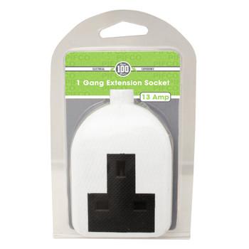 1 Gang Rubber Extension Socket - 13Amp