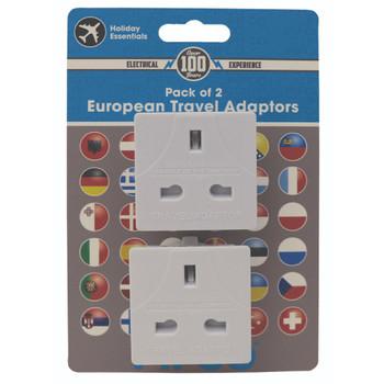 Pack of 2 European Travel Adaptors