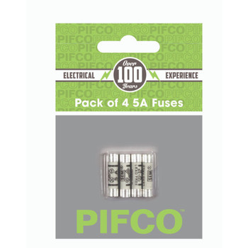 Pack of 4 5Amp Mains Fuses by Pifco