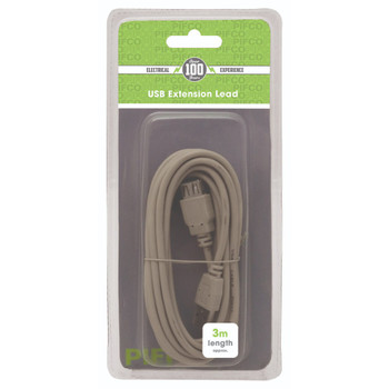 3 Meter USB Extension Lead by Pifco