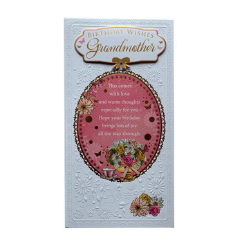 Birthday Wishes Grandmother Soft Whispers Card