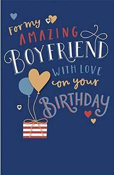 For My Amazing Boyfriend Stunning Birthday Card