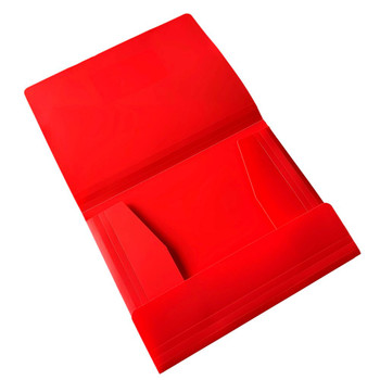 Pack of 12 A4 Red 3 Flap Folders with Elasticated Closure