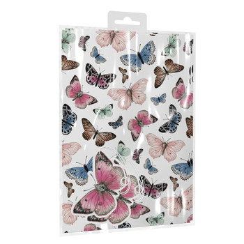Beautiful Butterflies Design Gift Wrapping Paper With Tags
