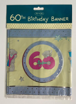 Me To You-Tatty Teddy-60th Birthday Decoration Banner