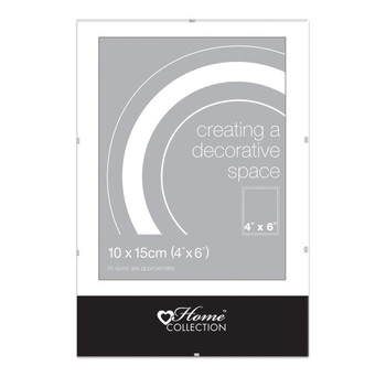 """6x4"""" Glass Clip Frame (10x15cm) by Home Collection"""
