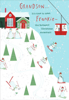 Christmas Card for Grandson Make Your Own Snowman Activity Design