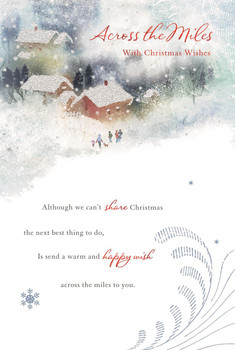 Across The Miles With Christmas Wishes Card
