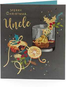 For An Uncle Classic And Sophisticated Foil Finished Christmas Card