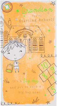 """Activity Pack"" Grandson Starting School Card"
