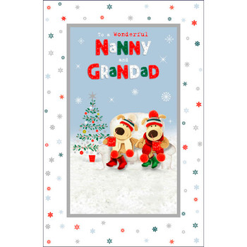 For a Wonderful Nanny and Grandad Boofle Christmas Card