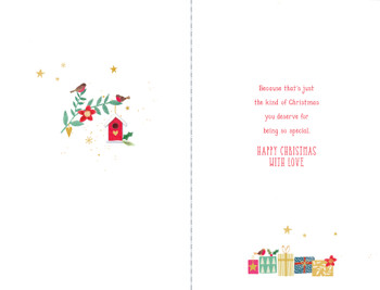 Couple Snowman Christmas Card For Niece and Her Husband