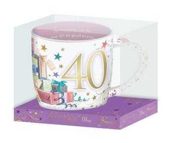 Age 40 Celebrity Style Mug