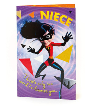 Disney The Incredibles Niece Birthday Card