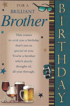 Brilliant Brother Sentimental Verse Birthday Card