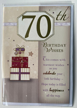 70th Birthday Card For Him Soft Whispers