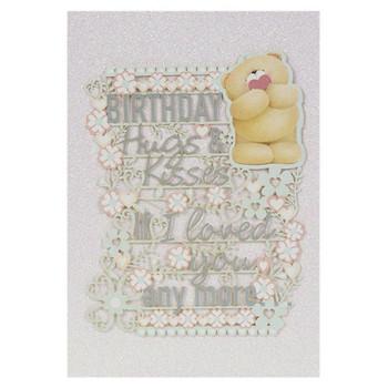 Hallmark Birthday Card For One I Love Hugs and Kisses Medium