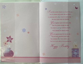 Mum On Your Birthday Sentimental Words Birthday Card