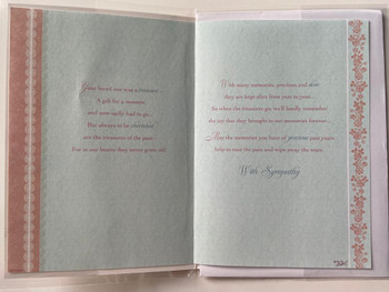 Deepest Sympathy Card On The Loss Your Loved One Sentimental Verse