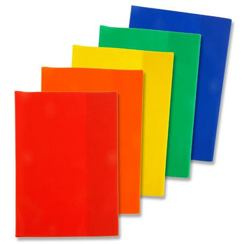 Pack of 5 A4 Pvc Assorted Colours Heavy Duty Copy Book Covers by Student Solutions
