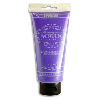 Ultramarine Violet Acrylic Paint 200ml by Icon Art