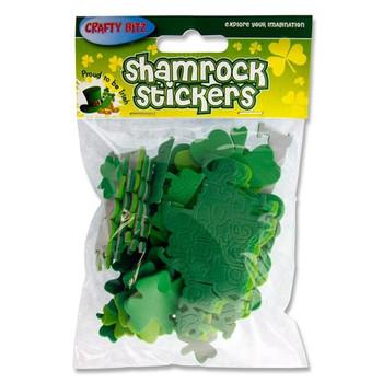 Pack of 40 Irish Luck Foam Stickers by Crafty Bitz