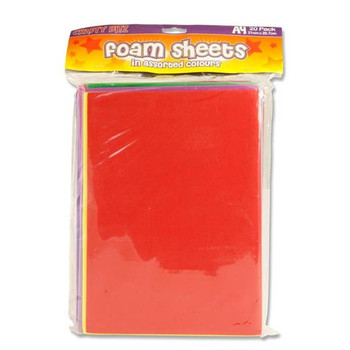 Pack of 20 A4 Foam Sheets by Crafty Bitz