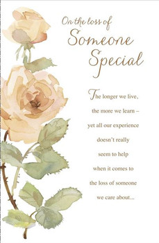 6 x On The Loss Of Your Someone Special Sympathy Condolences Cards Flower Design