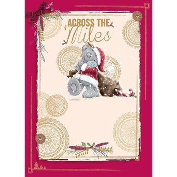 Across The Miles Me To You Bear Christmas New Year Card