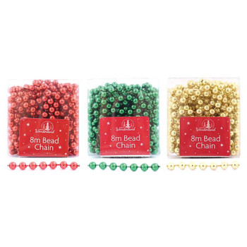 8m Christmas Tree Decoration Bead Chain