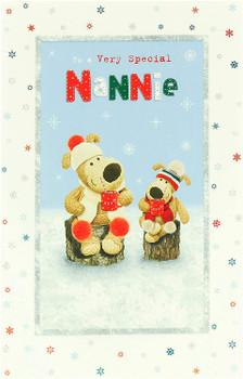 Christmas Card for Nannie Cute Boofle Design