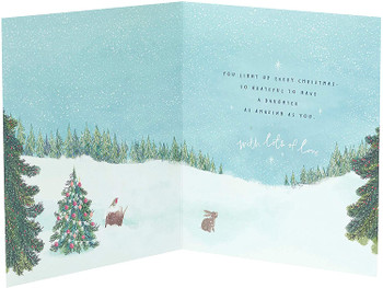 Christmas Card for Daughter Beautiful Festive Scenery Design