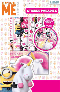 Despicable Me Fluffy Sticker Paradise