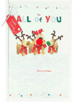 Christmas Card for All of You for The Family Cute Boofle Design