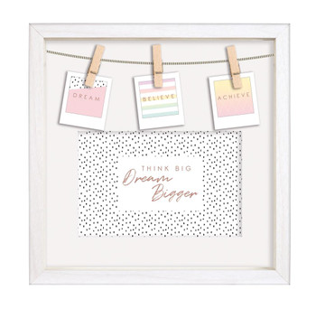 """3 Pegs And Print Inserts Photo Frame 4""""x6"""""""