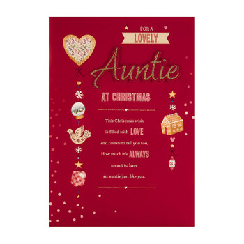 Christmas Card for Auntie Papyrus Collection Design with Heartfelt Verse
