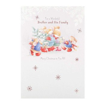 Wonderful Brother and Family Christmas Card 'Magical'