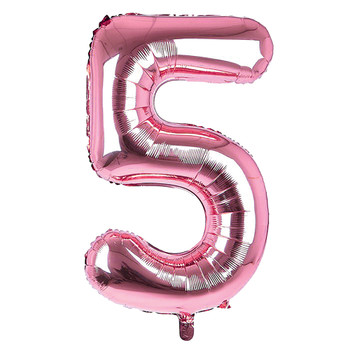 Giant Foil Light Pink 5 Number Balloon