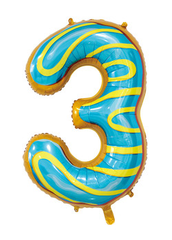 Giant Foil Young Editions Design 3 Number Balloon