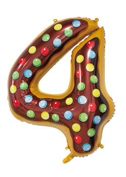 Giant Foil Young Editions Design 4 Number Balloon