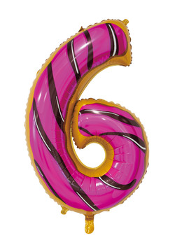 Giant Foil Young Editions Design 6 Number Balloon
