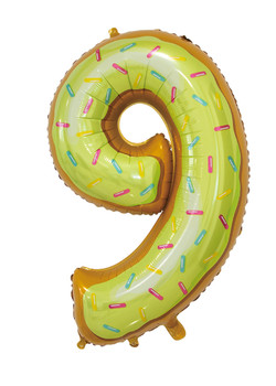 Giant Foil Young Editions Design 9 Number Balloon