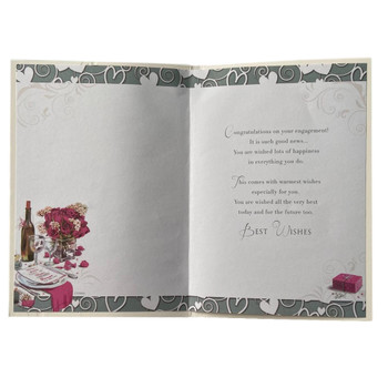Best Wishes Engagement Celebrity Styled Congratulations Card