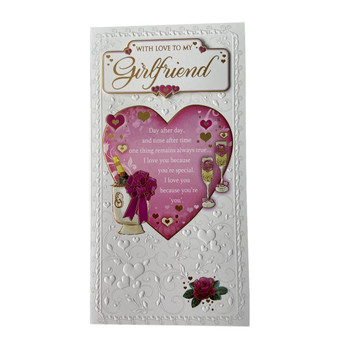 With Love To My Girlfriend Soft Whispers Card