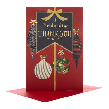 Thank You Christmas Card 'Just To Say'