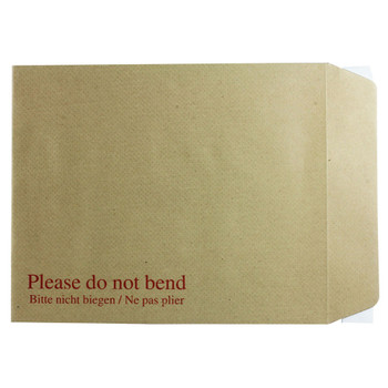 Pack of 125 267x216mm Board Back Peel and Seal 115gsm Manilla Envelopes