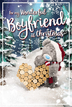 3D Holographic Wonderful Boyfriend Christmas Card
