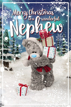 3D Holographic Wonderful Nephew Christmas Card