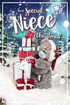 3D Holographic Special Niece Christmas Card
