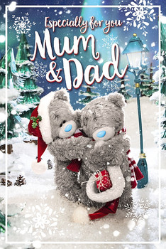 3D Holographic Mum & Dad Christmas Card
